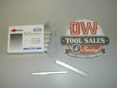 "508C Staples 1/2"" Crown 1/4"" Length Galvanized 5,000 Spotnails 35504 for DuoFast"