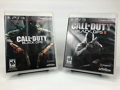 Call Of Duty: Black Ops 1 & 2 for Playstation 3 - Complete Game Lot (PS3)