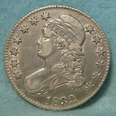 1832 CAPPED BUST SILVER HALF DOLLAR XF * US Coin