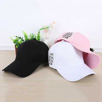 NEW 2019Men Women Cap Anti Social Social unisex Men Women Hot Hat Caps All Color