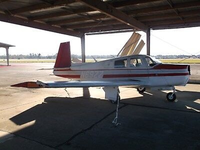 1968 Mooney M20C, 5633 Ttaf, 201 Windshield, Belly Damage Only, Great Project