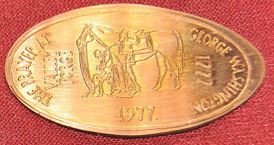 SPE-5: Vintage Elongated cent: THE PRAYER AT VALLEY FORGE / GEORGE WASHINGTON