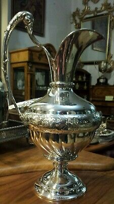 325g HIGH VINTAGE FLUTTED PITCHER sterling SILVER INSPIRED XVIII