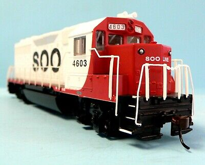 HO Scale Model Railroad Trains Layout Engine Soo Line GP-40 DCC & Sound Equipped