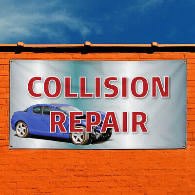 NEW AUTO BODY COLLISION REPAIR VINYL BANNER 3/' X 8/' HEMMED WITH EYELETS