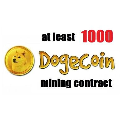 at least 1000 Dogecoins 3 hours Dogecoin (DOGE) Crypto mining contract