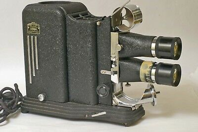 F88006~ Unusual SVE Model SA Stereo 3-D Film Strip/Glass Slide Projector Outfit
