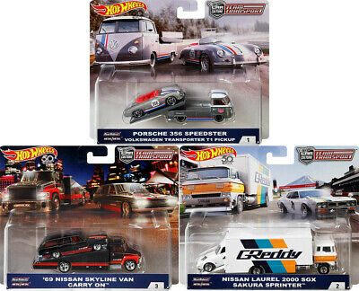 Team Transport Car Culture Set 6 Modellautos Nissan VW 1:64 Hot Wheels FLF56