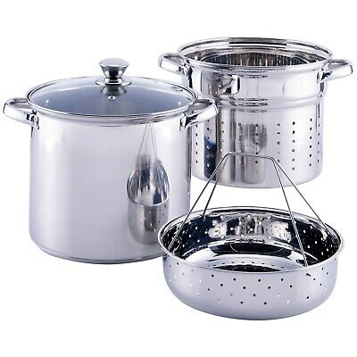 Pasta Pot Stainless Steel 8 Quart Steamer Set With Strainer Basket And Lid Home