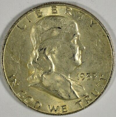 1953-D Collectible Silver Franklin Half-Dollar (b536.42)