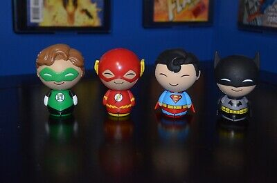 DC Comics FUNKO DORBZ FIGURE SET SUPERMAN BATMAN FLASH GREEN LANTERN