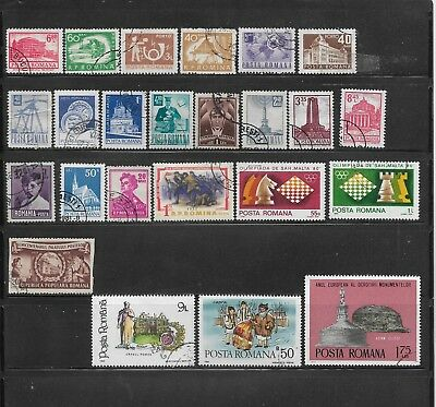 43 Different Used Romania Stamps