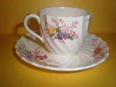 Copeland Spode Fairy Dell Tea Cup & Saucer Plate England Vintage
