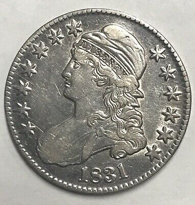 Nice 1831 Capped Bust Silver Half Dollar        Free Shipping