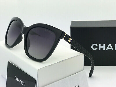 Sunglasses-Polarized2@¹Chanel&¹  Black/Black Gold Logo Iridium