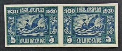 nystamps Iceland Stamp # 153 Mint H Imperf