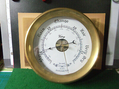 Vintage Ship's Barometer Victory Millibars-Inches Stormy Rain Change Fair Dry