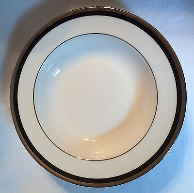 Wedgwood REFLECTION Rimmed Rim Soup Bowl Platinum Trim NEW w Tags! 4 Available