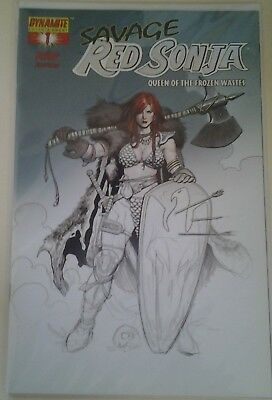 Savage Red Sonja Queen of the Frozen Wastes #1 Cho Sketch RRP Variant(2006)VF/NM