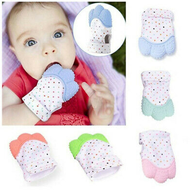 1pcs Baby Food Grade Non-Toxic Silicone Molar Gloves Teething Soothing Chew Toys