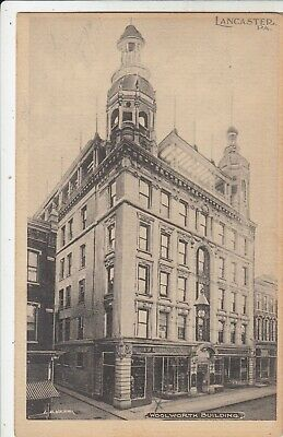 The Woolworth Building w Five & Dime / N. Queen St Lancaster PA postcard 1905