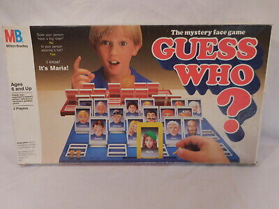 Guess Who Board Game 1987 Vintage Milton Bradley Ages 6 And Up 100% Complete