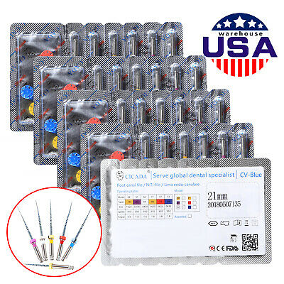5 Packs Dental Endo Rotary Universal Engine Root Canal Niti Files 21MM Assorted