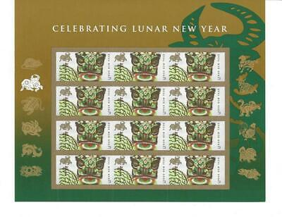 Us Scott 4375 Pane Of 12 Lunar New Year Stamps 42 Cents Face Mnh