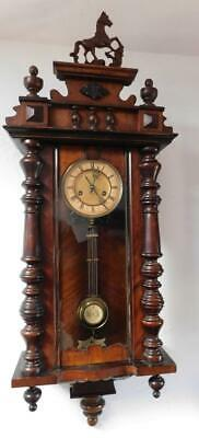 a walnut cased vienna wall clock
