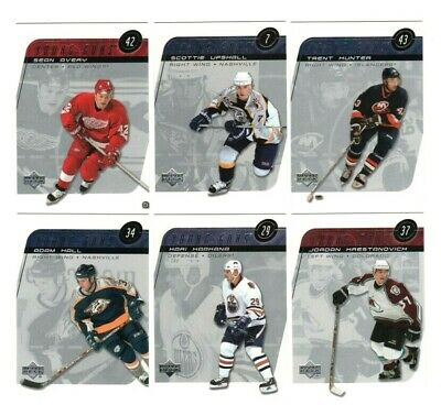 Sean Avery RC + 2002-03 Upper Deck UD Young Guns YG SP Lot Red Wings + Bonus x 2