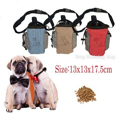 Dog Training Walk Pouch Puppy Treat Shoulder Bag Food Snack Belt Bags Dispenser