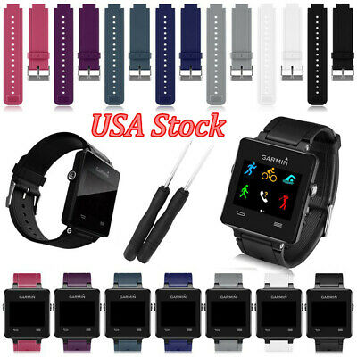Replace Band For Garmin Vivoactive Sports Silicone Wristwatch Band Strap Tool US