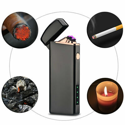 Cigarette USB Chargeable Electric Lighter Pulse Flameles Plasma Torch Gifts