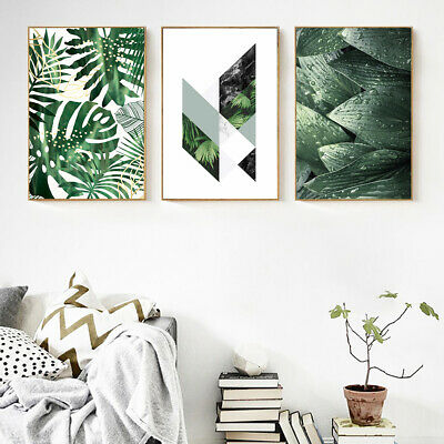 Green Leaves Canvas Wall Painting Picture Poster Art Home Decor Unframed Faddish