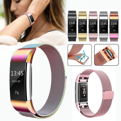 For Fitbit Charge2 Strap Replacement Milanese Band Stainless Steel Magnet AAA