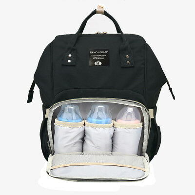 Multifunctional Baby Diaper Backpack Mommy Backpack Nappy Changing Bag Black