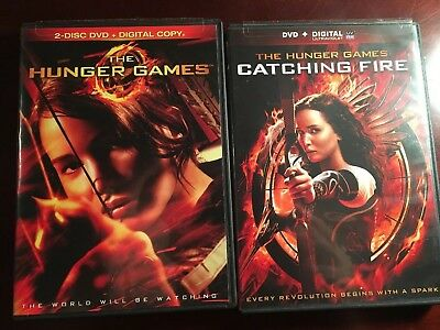 The Hunger Games (DVD, 2012, 2-Disc Set) + Catching Fire