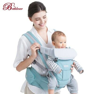 3 in 1 Hipseat Ergonomic Baby Carrier 0 - 36 Months Wrap Infant Sling Backpack