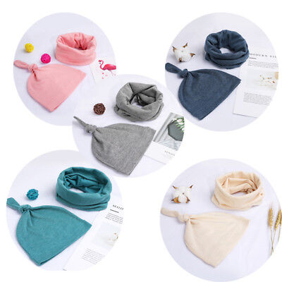 2PC Newborn Baby Boys Girls Beanie Knotted Cotton Hat Soft Cap Infant Toddle Hat
