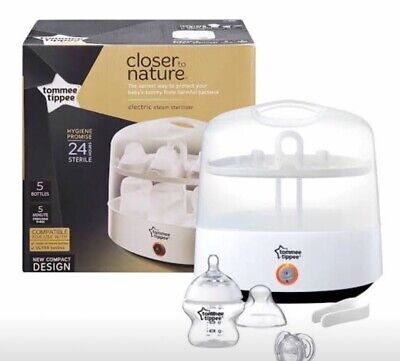 Brand NEW Tommee Tippee Closer to Nature Electric Steam Steriliser White