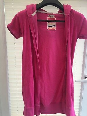 Marks and Spencer Indigo Collection Girls pink robe, zip and hood age 13 to 14