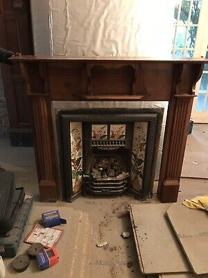 Antique, Victorian, Cast Iron Fireplace And Surround