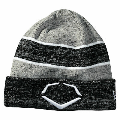 Evoshield Knit Cuffed Baseball/Softball Hat - Black/White