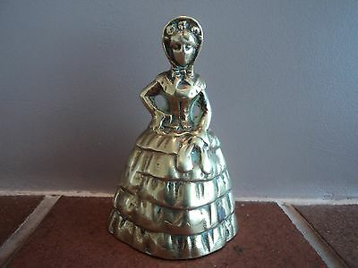 Vintage Early Brass Cast Novelty Lady With Clacker Legs-Counter/reception Bell.
