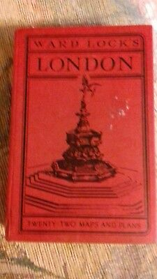 vintage used illustrated guide to London by Ward Lock 61st edition