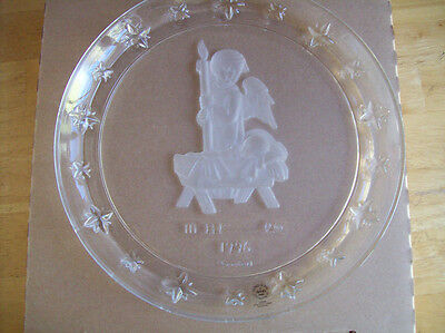 Avon M. I. Hummel 1996 Collector Angel Plate Mint In Box