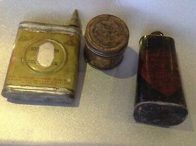 job lot of 3 Vintage Gun Related items~collectables~shooting~sport~decor~prop