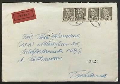 Denmark 1958. Exprès cover to Germany.