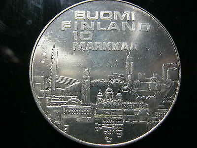 Finland 10 markkaa 1971 in Uncirculated condition.10th European Athletic CHM.