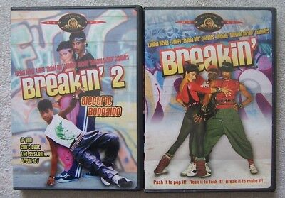 Breakin' and Breakin' 2: Electric Boogaloo 2 DVD's Full Screen VG Condition